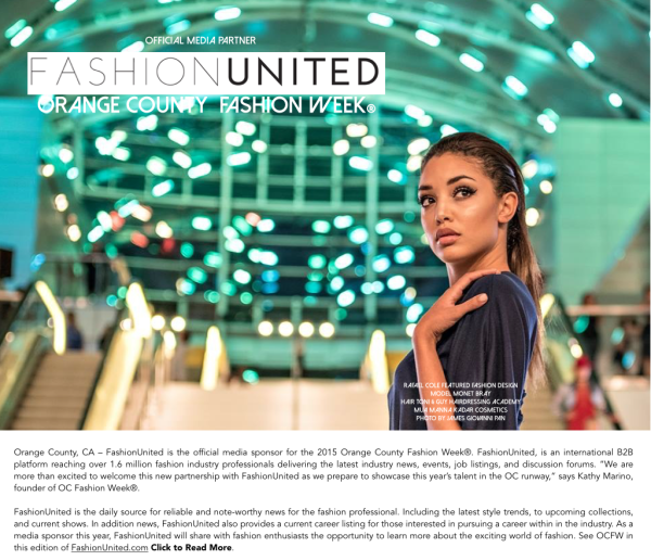Fashion United becomes official Media Partner of OC Fashion Week