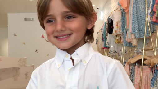 LUCA ZAHOUL SANS first modeling audition for Kids Casting at OC Fashion Week presented by Occasion Kids.