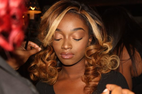 Carlicia Graham displays her Tailor Made hair pieces