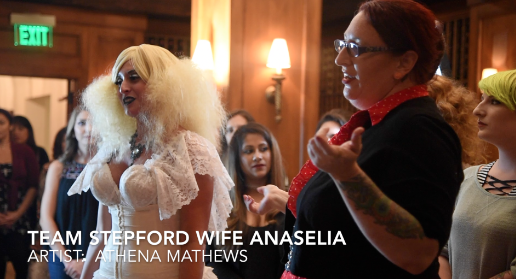 Anaselia Galli is transformed by artist Athena Mathews